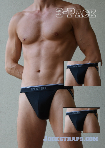 3-Pack of Black 2Xist Jockstraps